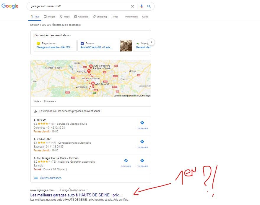 SERP-Google-maps